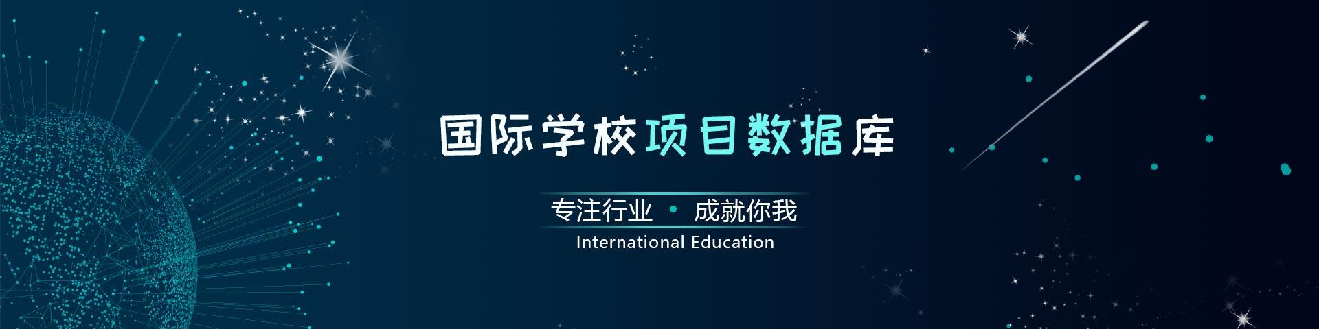 国际学校项目数据库